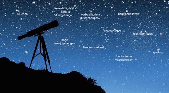 sterrenhemel ingevuld